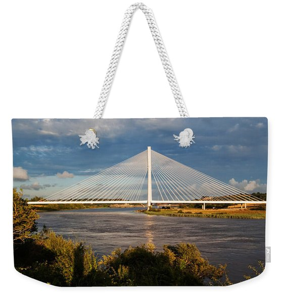 Cable-stayed Bridge Over The River Suir Weekender Tote Bag