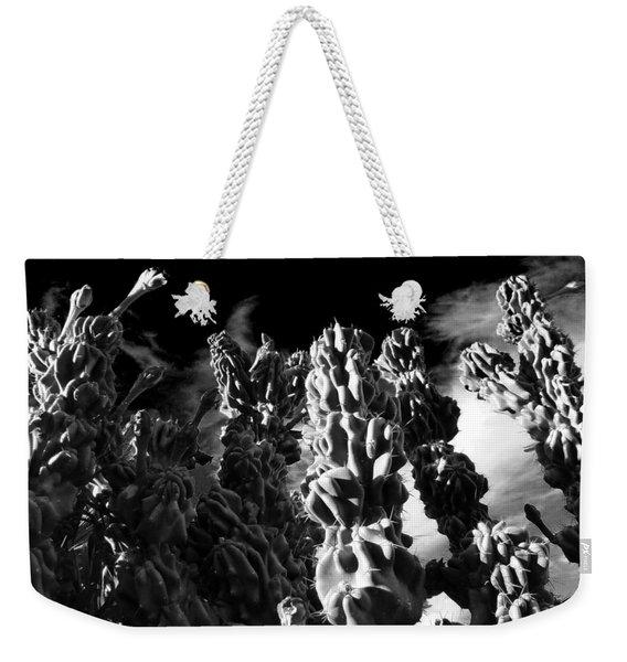 Cactus 1 Bw Weekender Tote Bag