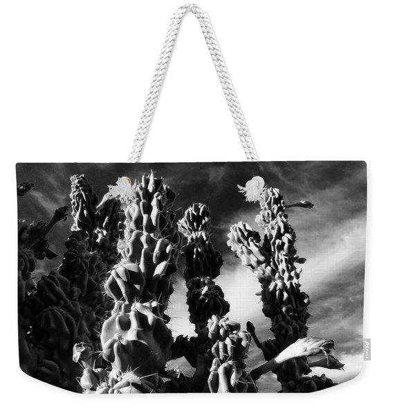 Cactus 2 Bw Weekender Tote Bag