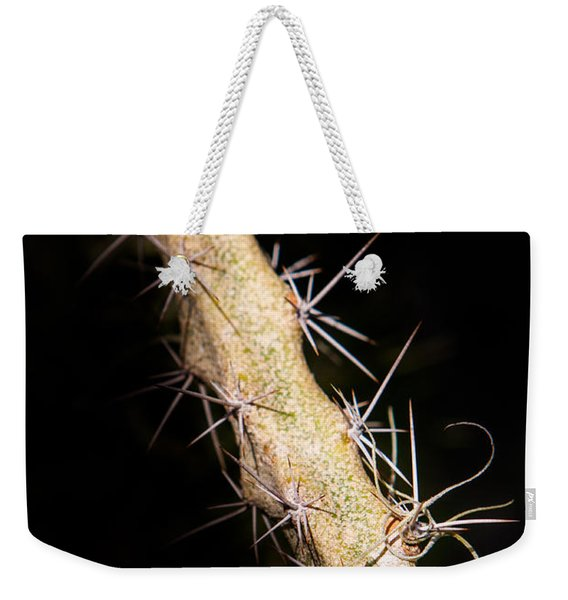Weekender Tote Bag featuring the photograph Cactus Branch by John Wadleigh
