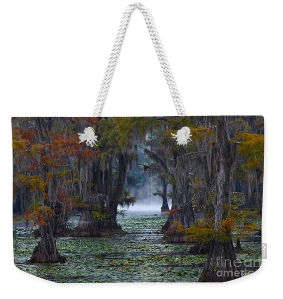 Caddo Lake Morning Weekender Tote Bag
