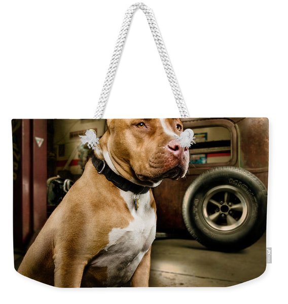 Caesar At Millers Chop Shop Weekender Tote Bag