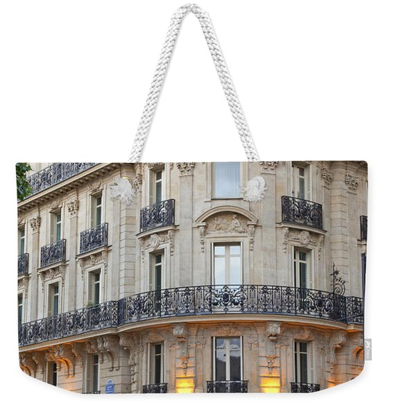 Weekender Tote Bag featuring the photograph Cafe Francais by Brian Jannsen