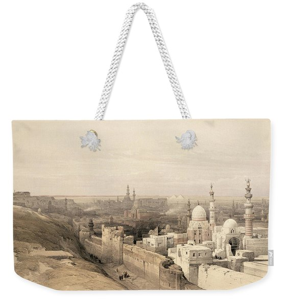 Cairo Looking West, From Egypt Weekender Tote Bag