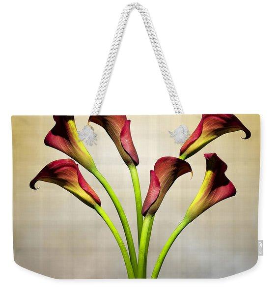 Cala Lily 5 Weekender Tote Bag