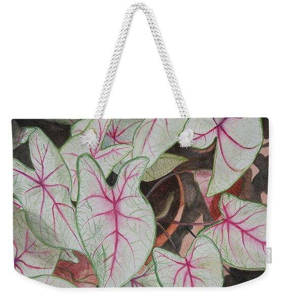 Caladiums Weekender Tote Bag