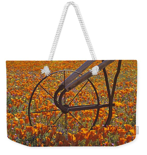 California Poppy Field Weekender Tote Bag