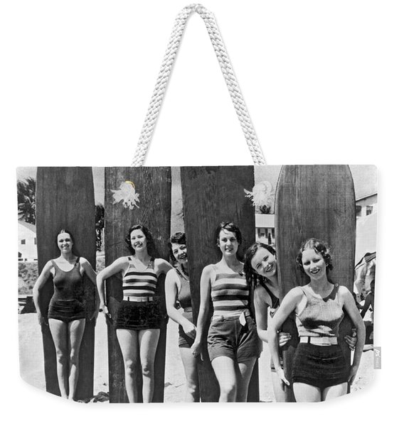 California Surfer Girls Weekender Tote Bag