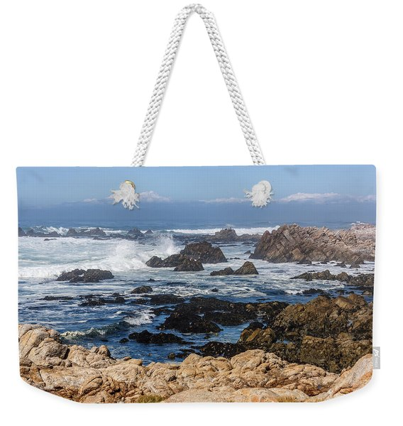 Weekender Tote Bag featuring the photograph Californian Coastline by Susan Leonard