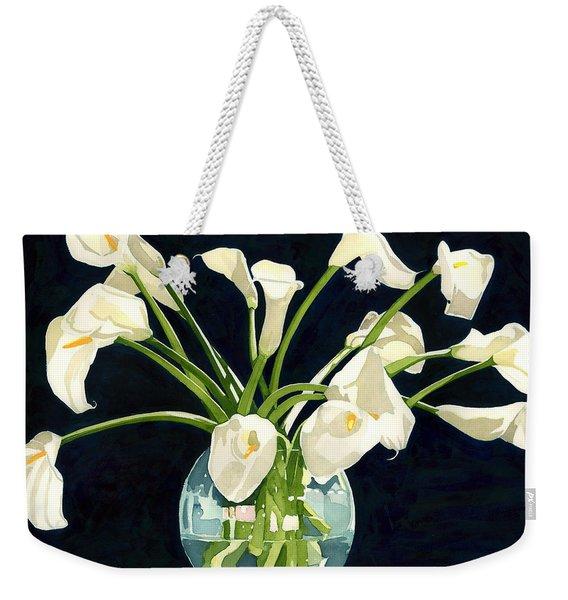 Calla Lilies In Vase Weekender Tote Bag