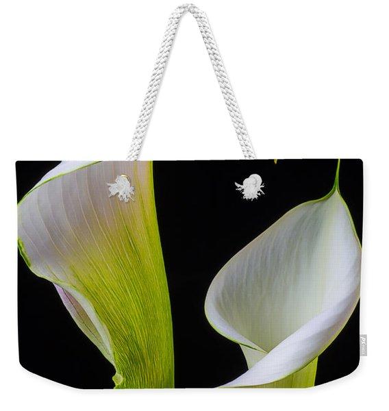 Calla Liliy Shapes Weekender Tote Bag
