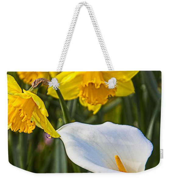 Calla Lily And Doffodils Weekender Tote Bag
