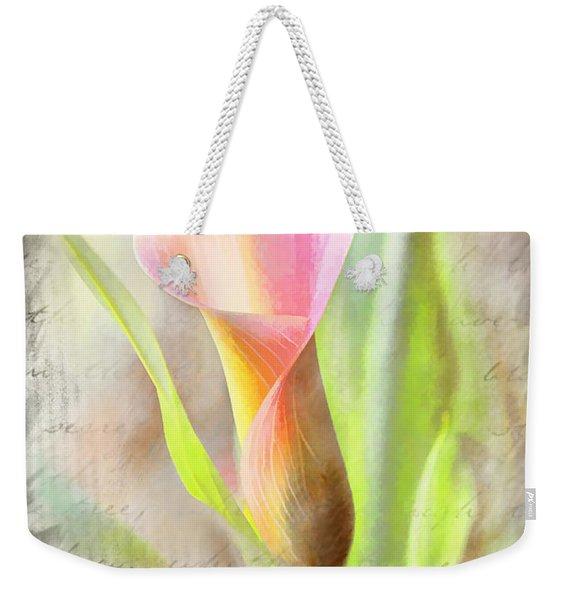 Calla Lily In Pink Weekender Tote Bag