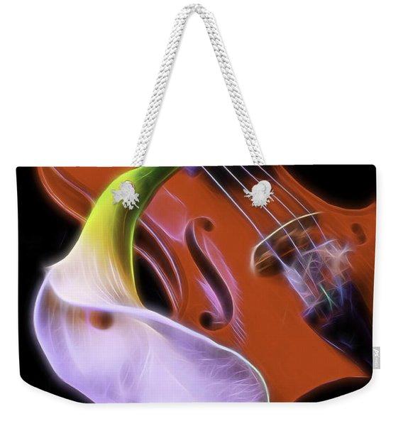 Calla Lily With Violin Weekender Tote Bag