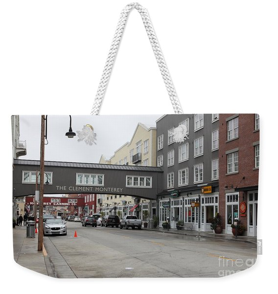 Calm Morning At Monterey Cannery Row California 5d24762 Weekender Tote Bag