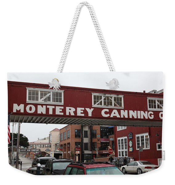 Calm Morning At Monterey Cannery Row California 5d24763 Weekender Tote Bag