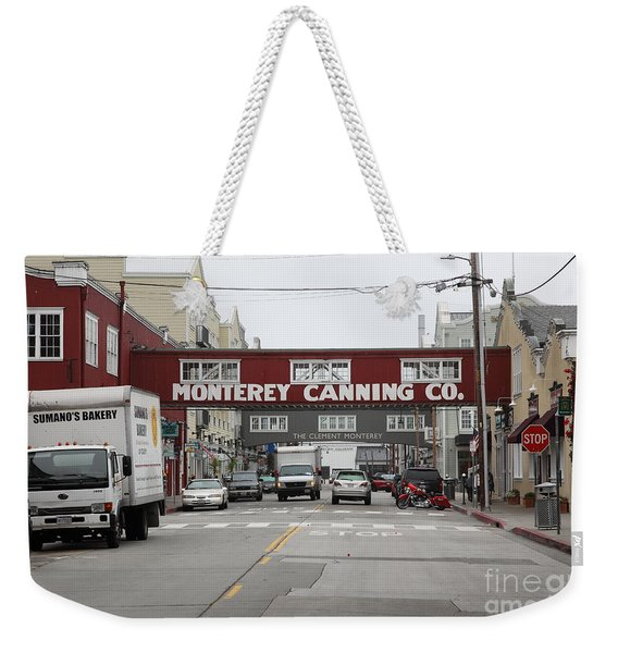 Calm Morning At Monterey Cannery Row California 5d24773 Weekender Tote Bag