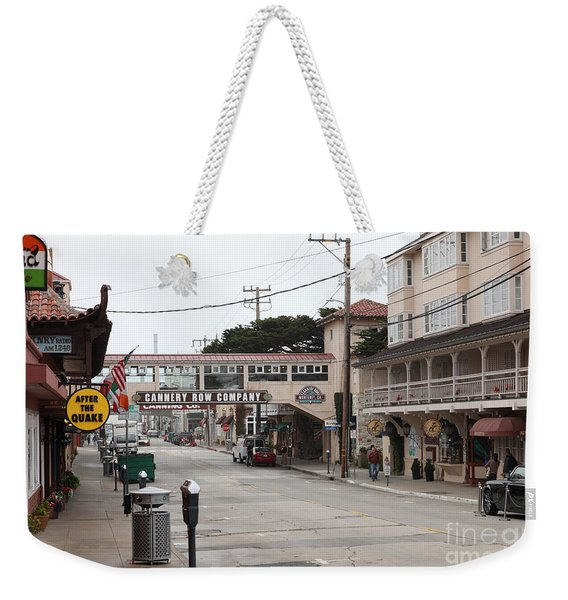 Calm Morning At Monterey Cannery Row California 5d24777 Weekender Tote Bag