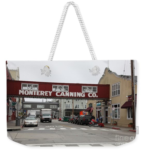 Calm Morning At Monterey Cannery Row California 5d24781 Weekender Tote Bag