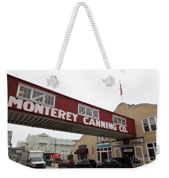 Calm Morning At Monterey Cannery Row California 5d24782 Weekender Tote Bag