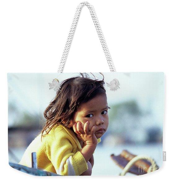 Cambodian Girl 01 Weekender Tote Bag