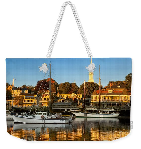 Weekender Tote Bag featuring the photograph Camden Maine by Brian Jannsen