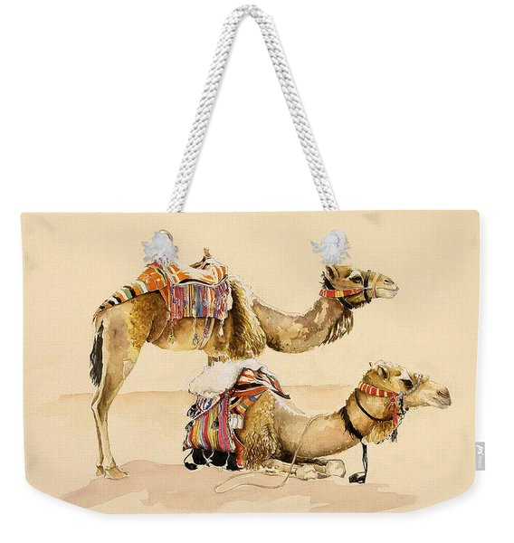 Camels From Petra Weekender Tote Bag