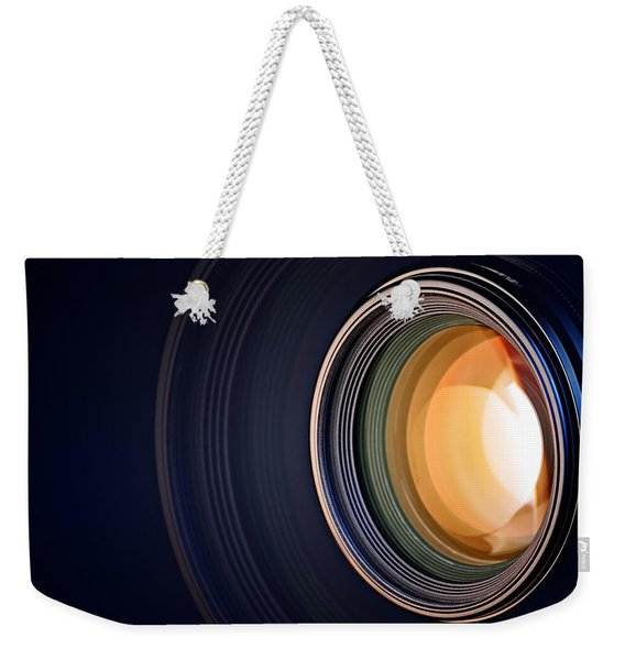 Camera Lens Background Weekender Tote Bag