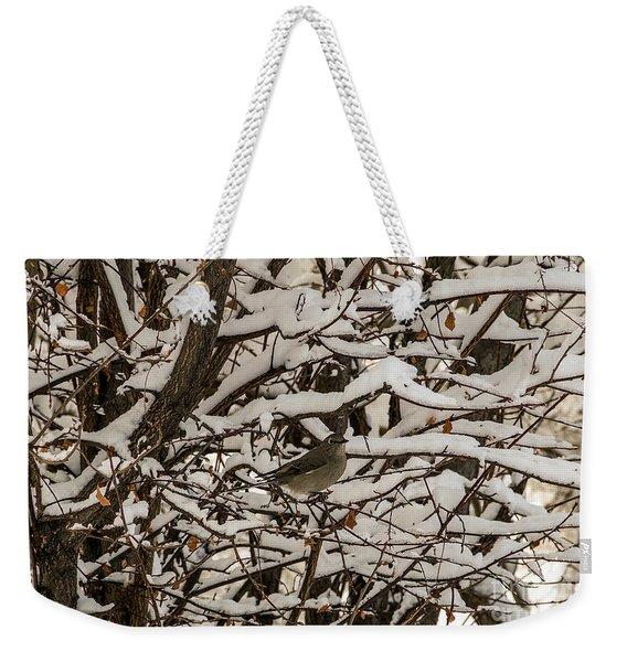 Camouflaged Thrush Weekender Tote Bag