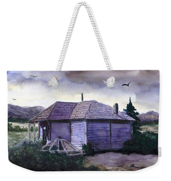 Camp Creek School Watercolor Weekender Tote Bag