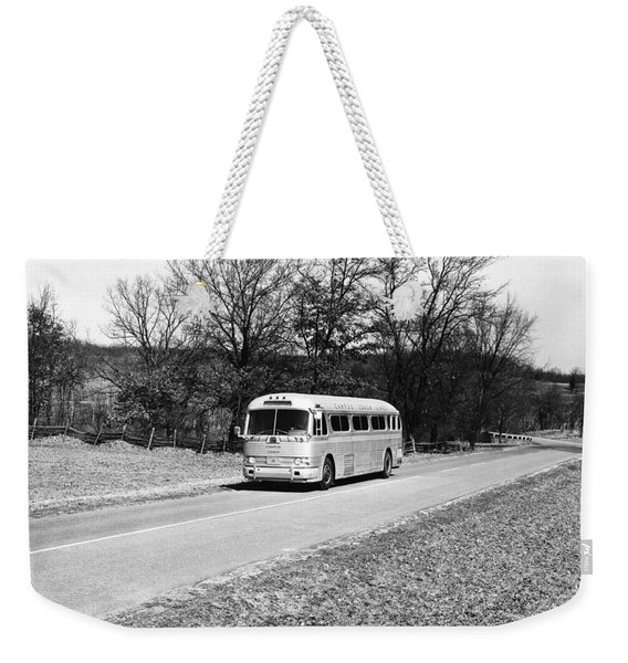 Campus Coach Line Bus Weekender Tote Bag