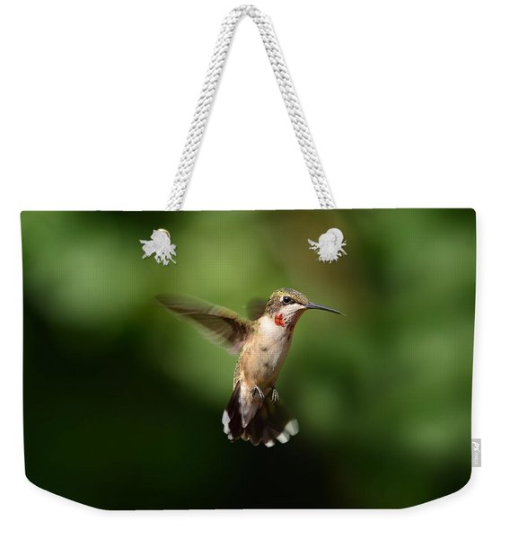 Can You See My Red Feathers Weekender Tote Bag