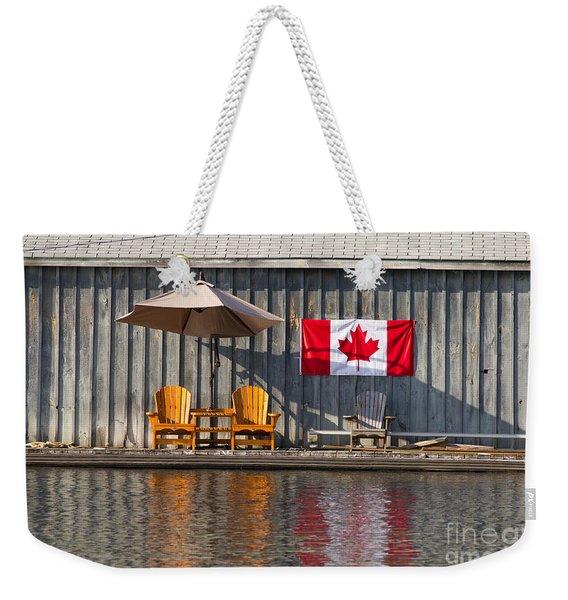 Canada Day In Muskoka Weekender Tote Bag