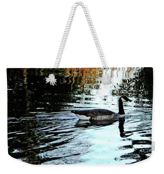 Canadian Goose At Burden  Weekender Tote Bag