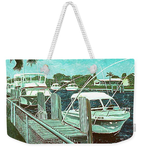 Canal At Pompano Weekender Tote Bag