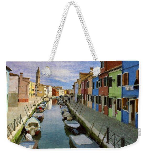 Canal Burano  Venice Italy  Weekender Tote Bag