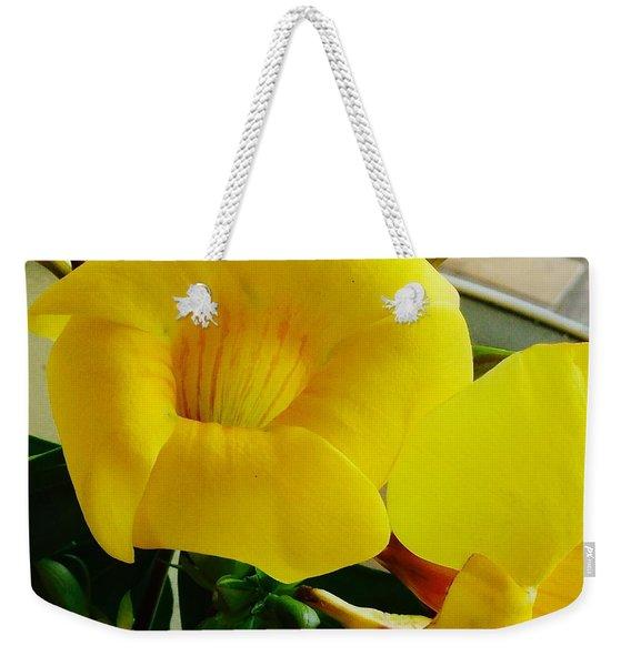 Canario Flower Weekender Tote Bag