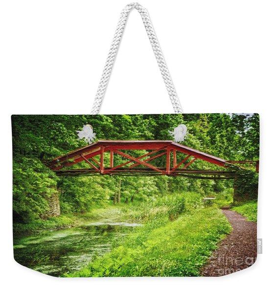 Canal Bridge Weekender Tote Bag