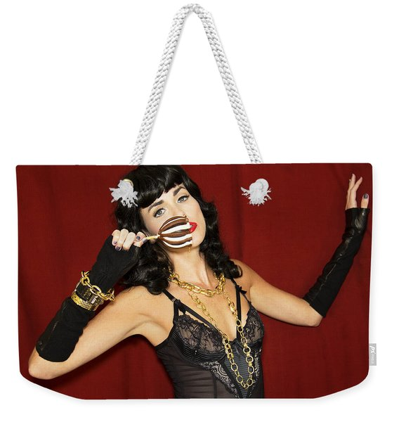 Candy Apple Doll Bettie Weekender Tote Bag