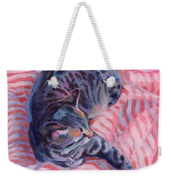 Candy Cane Weekender Tote Bag