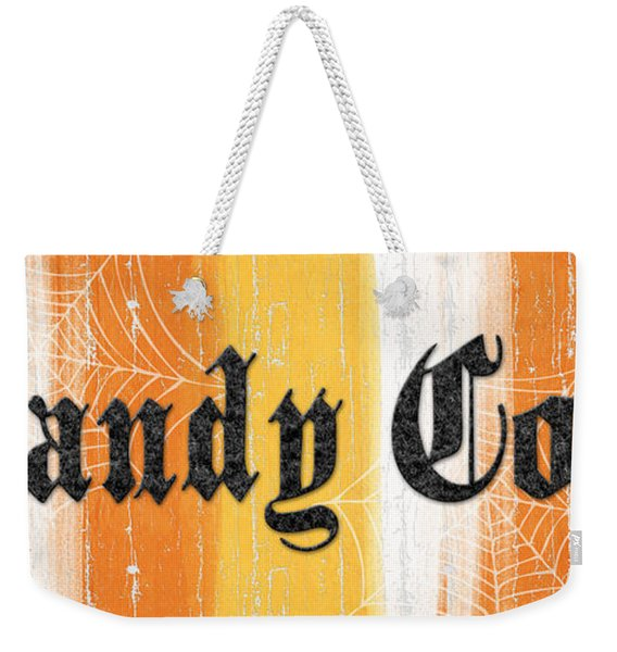 Candy Corn Sign Weekender Tote Bag