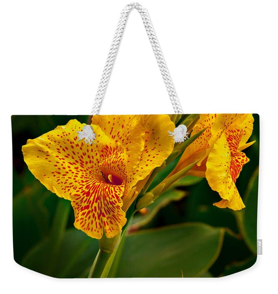 Canna Blossom Weekender Tote Bag
