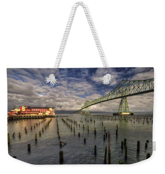 Cannery Pier Hotel And Astoria Bridge Weekender Tote Bag