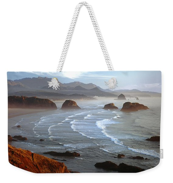 Cannon Beach At Sunset Weekender Tote Bag