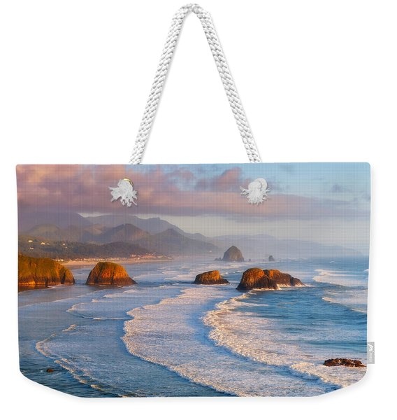 Cannon Beach Sunset Weekender Tote Bag