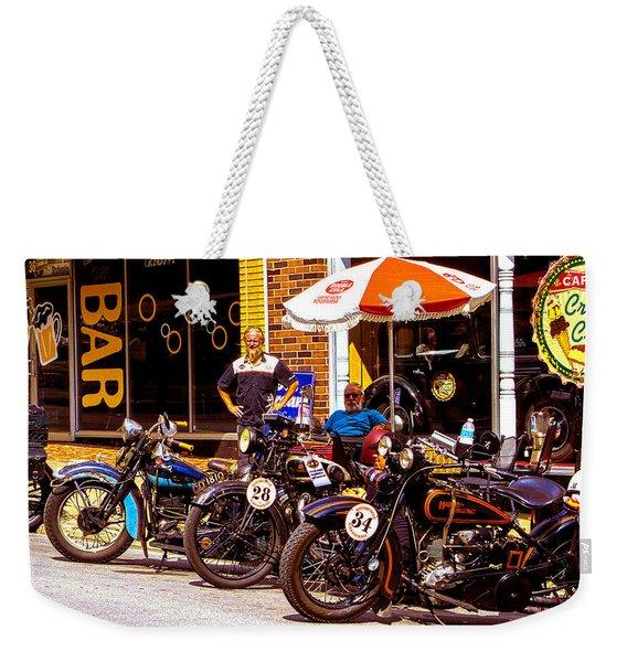 Cannonball Motorcycle Colors Weekender Tote Bag