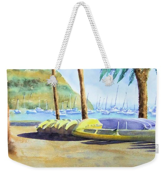 Canoes And Surfboards In The Morning Light - Catalina Weekender Tote Bag
