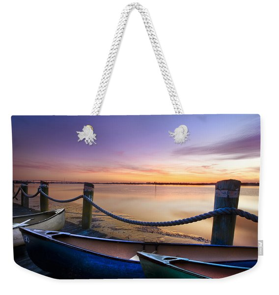 Canoes On The Dock Weekender Tote Bag