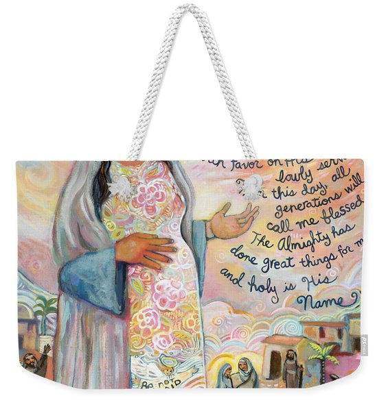 Canticle Of Mary Weekender Tote Bag