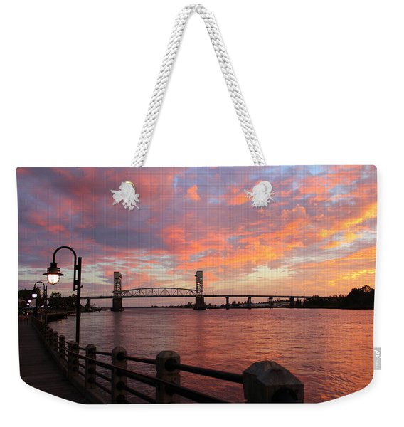 Cape Fear Bridge Weekender Tote Bag